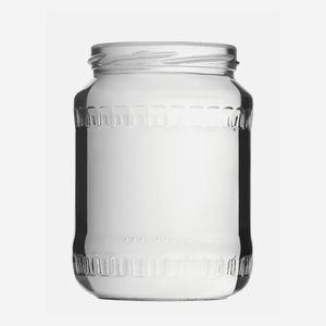 Cylindrical Jar 720ml, white, wide mouth: TO 82