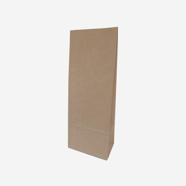 Block bottom bag 100% paper, brown, big size