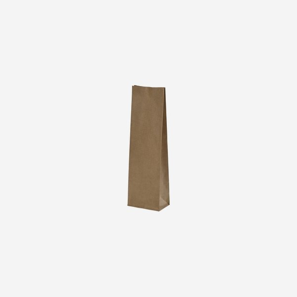 Block bottom bag, 100%paper, brown, without window