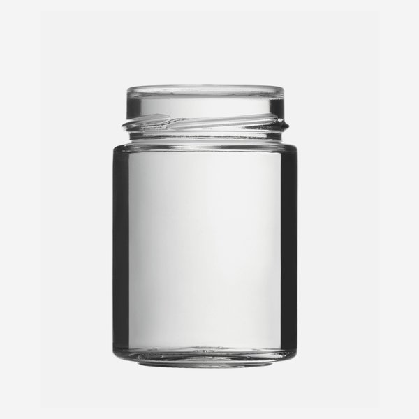 Cylindrical jar FACTUM 192ml, white, mouth: TO58DE