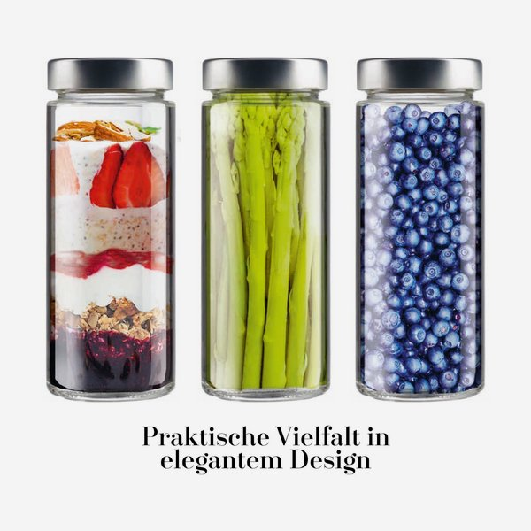 Cylindrical jar FACTUM 380ml, white, mouth: TO58DE