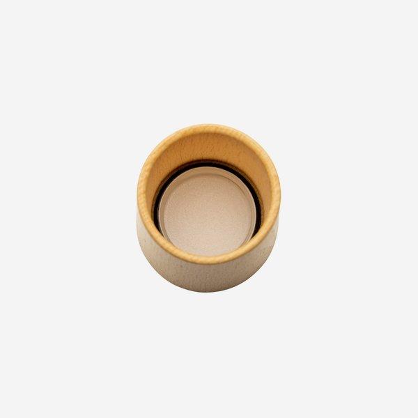 Wooden-Alum-Screw cap GPI 28 exclusive, natural