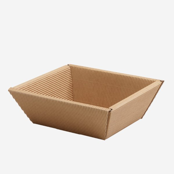 Present cardboard box bowl eCo-wave, brown