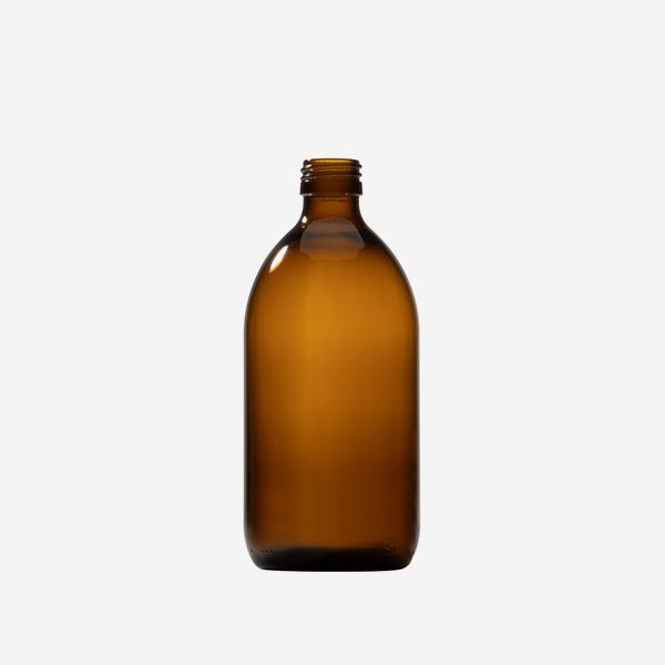 Medicine bottle 500ml, brown, mouth: PP-28