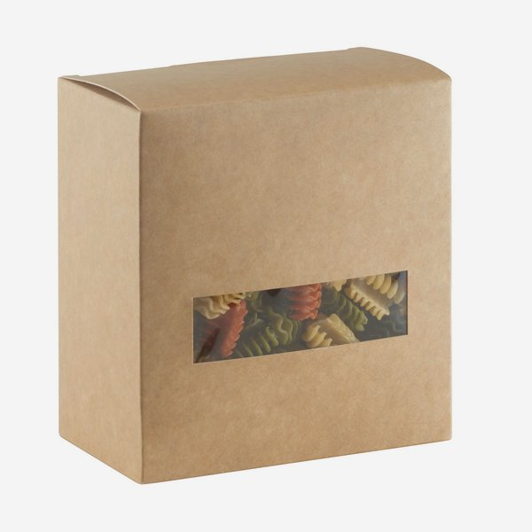 noodle box, brown, window