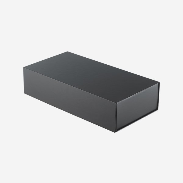 "Foldable box ""Opal"", linen structure anthracite"