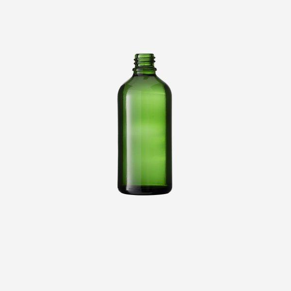 Dropper bottle 100ml, green, finish: GL-18