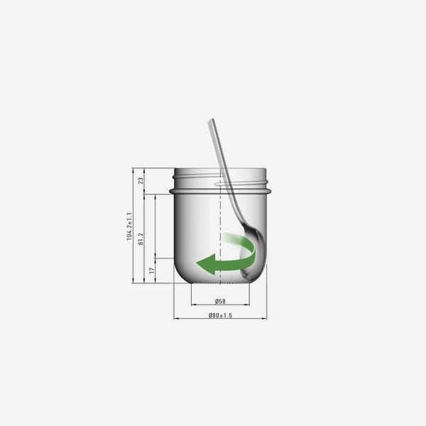 VITA jar 410ml, white, finish: TO82De