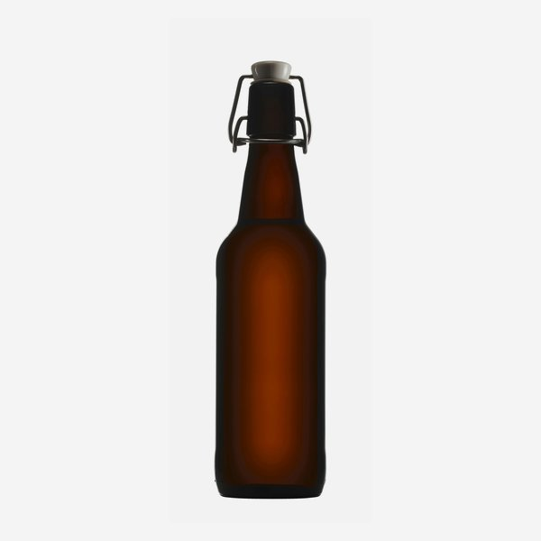 Swing top bottle 500ml, brown, finish: Swing top