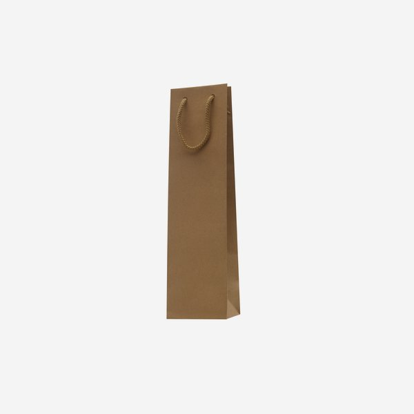 Bottle carrier bag, natural, without window