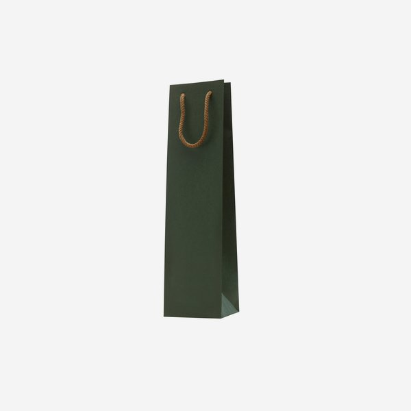Bottle carrier bag, green, without window