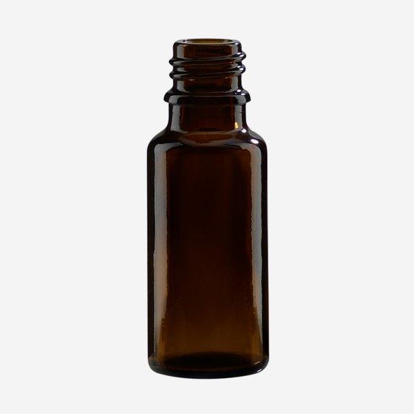Dropper bottle 20ml, brown, finish: GL-18